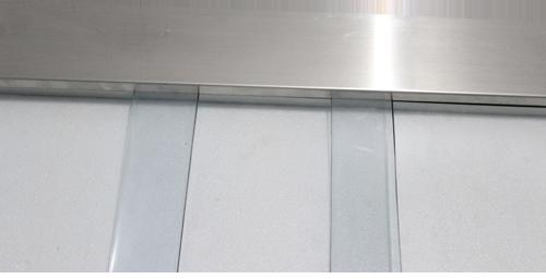 Aluminium fixture for PVC Curtains